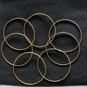 DANIALLI Jewelry - 7 Seven Bangles 14k gold overlay .. South America